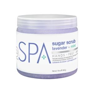 BCL Spa  16 oz Lavender + Mint Sugar Scrub single