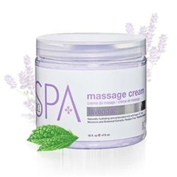 BCL Spa  16 oz Lavender + Mint Massage Cream single
