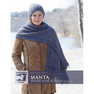 Juniper Moon Farm Manta Blanket Scarf & Beanie Pattern