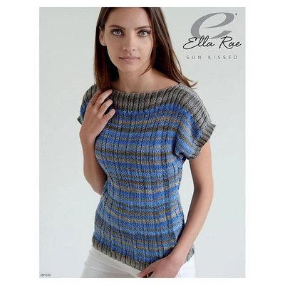 Ella Rae Striped Cable Pullover | ER1030