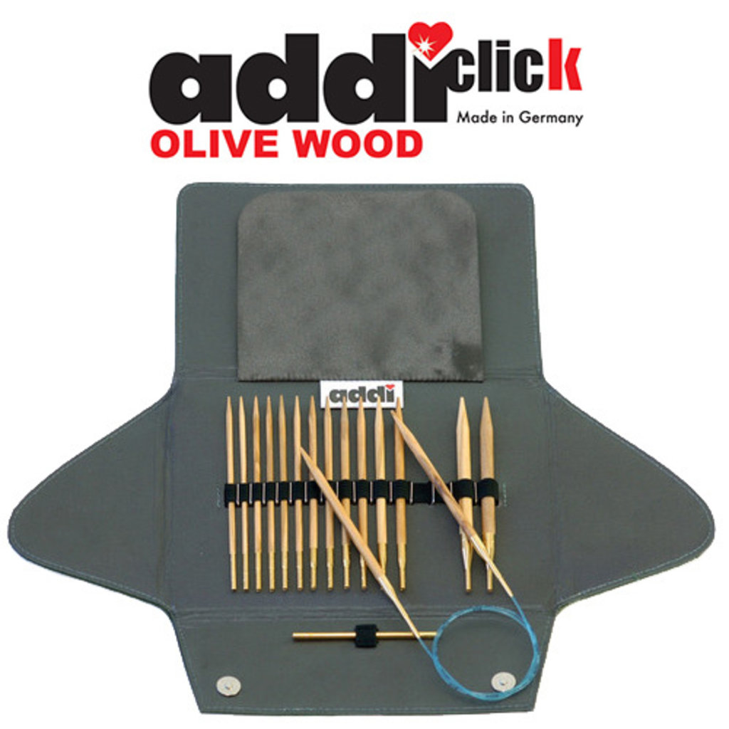Addi Addi Click Olive Wood Set