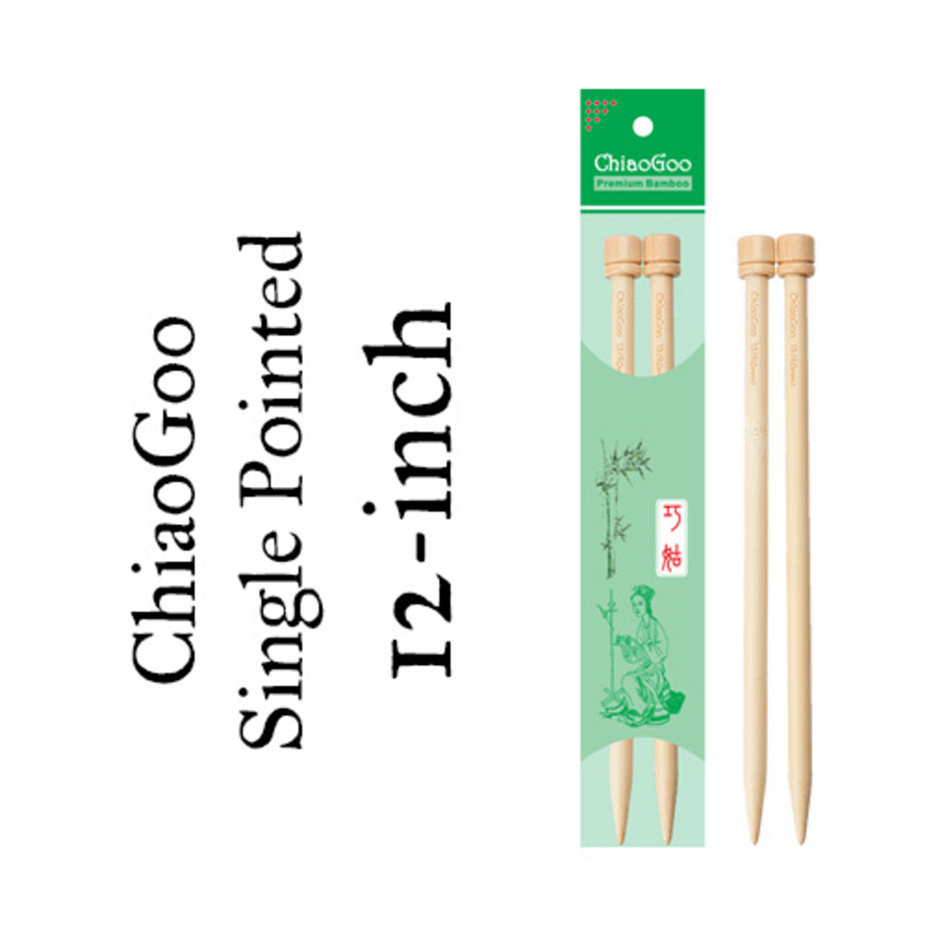 "ChiaoGoo 12"" Straight Needles"