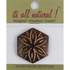 It's All Natural Hexagon Coconut Button