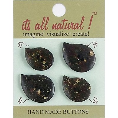It's All Natural Leaf Bone Buttons