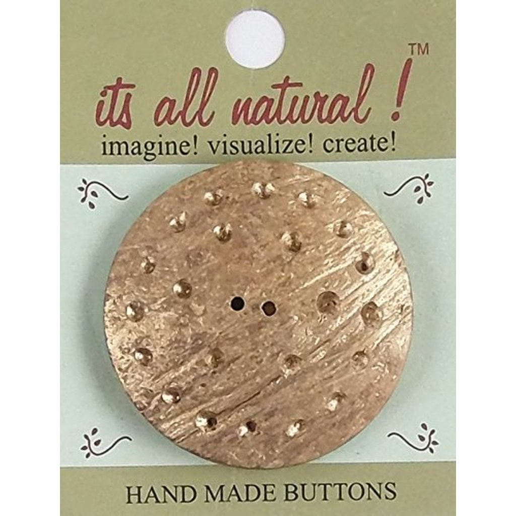 It's All Natural Large Coconut Button