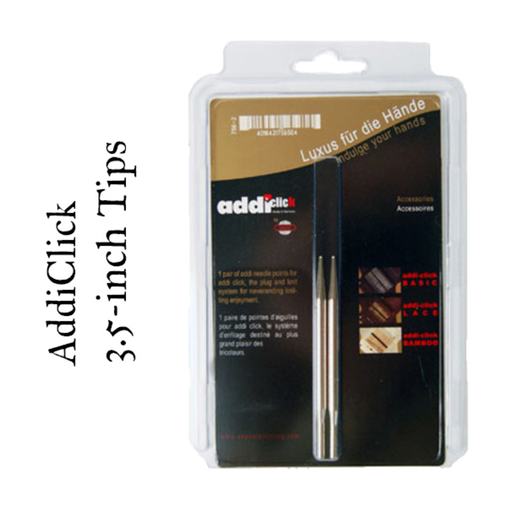 "Addi Addi Click 3.5"" Interchangeable Needles US 6 