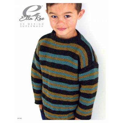Ella Rae Boys Striped Garter Stitch Sweater | ER1043