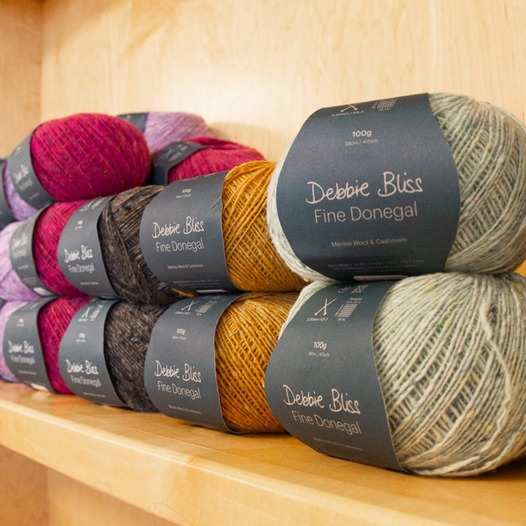 DEBBIE BLISS FINE DONEGAL 4 PLY Yarn Wool Knitting Crochet 100g***ALL COLOURS***