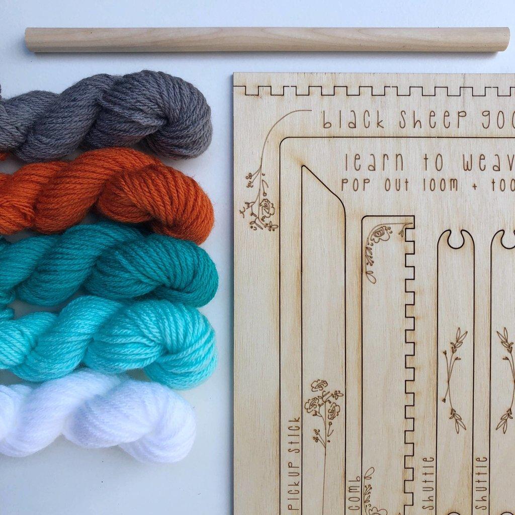 Black Sheep Goods Groove DIY Tapestry Weaving Kit