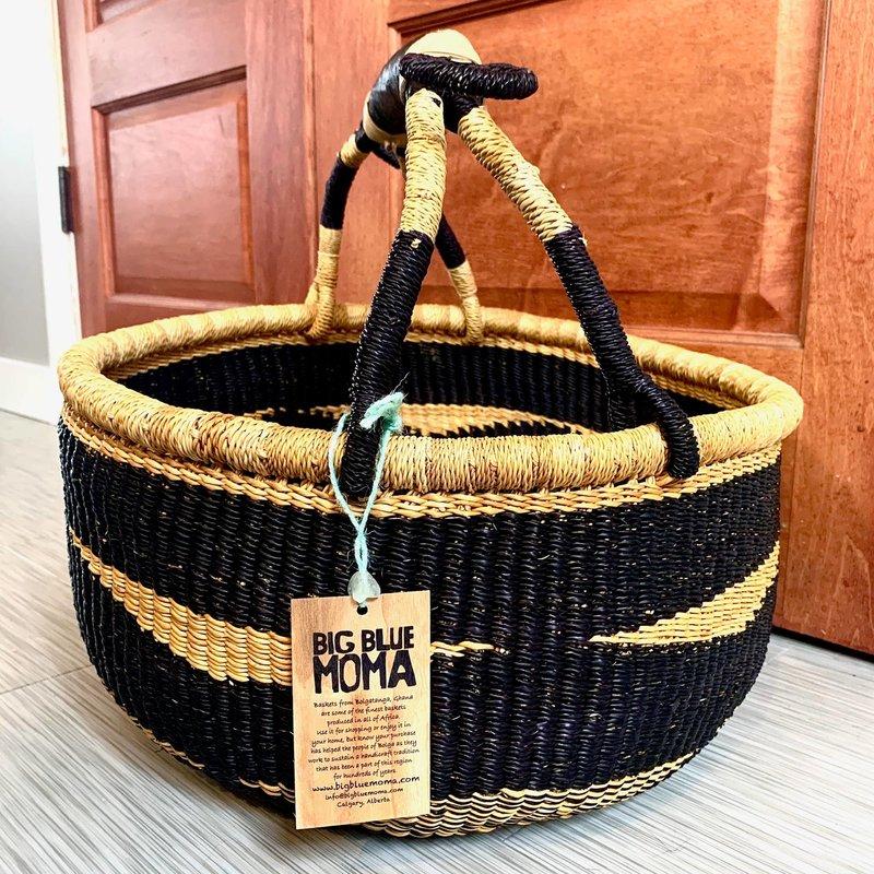 Big Blue Moma Large Round Basket