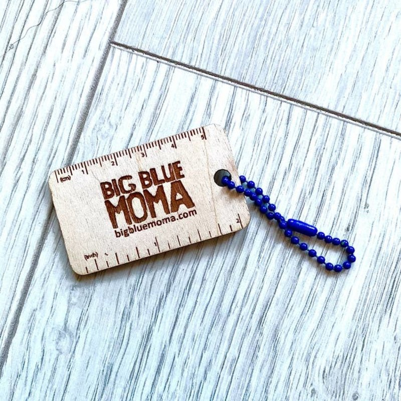 Big Blue Moma Quick Ruler Key Ring