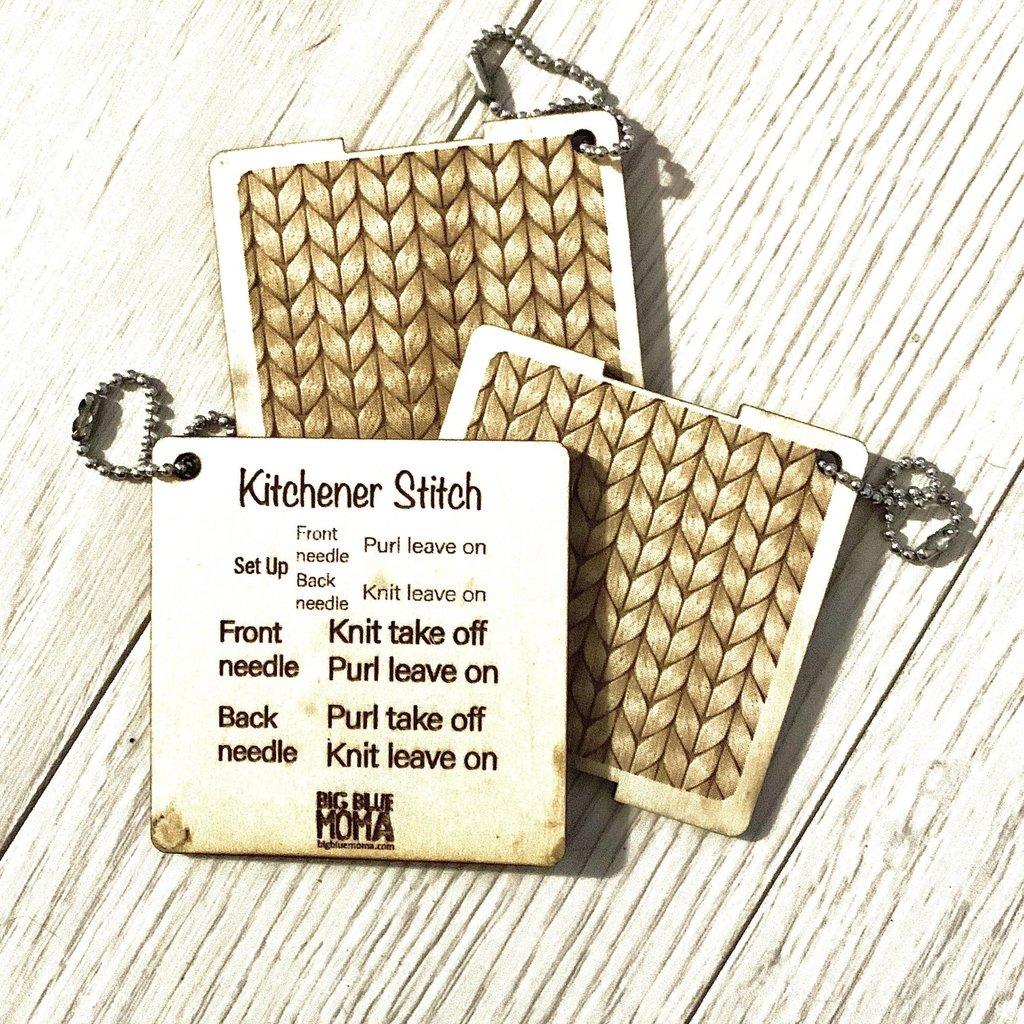 Big Blue Moma Kitchener Stitch