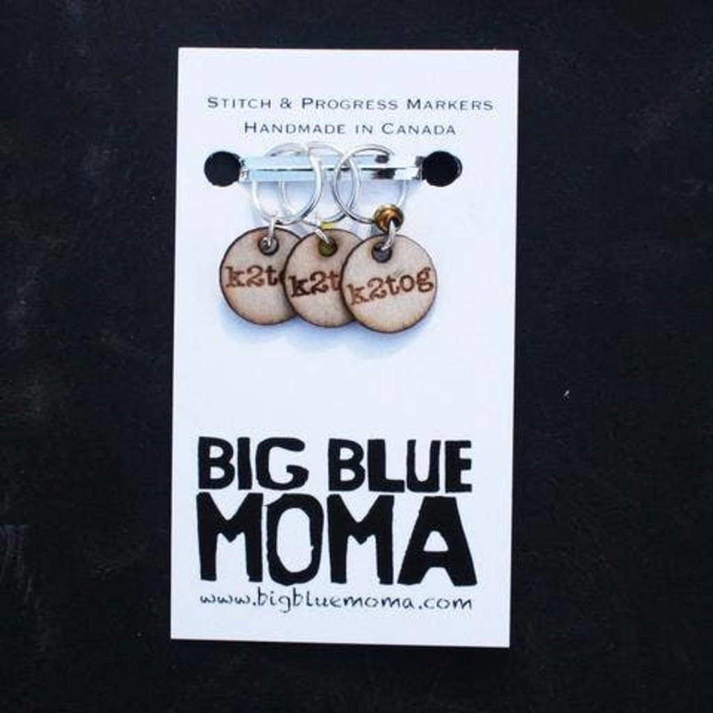 Big Blue Moma K2Tog Markers