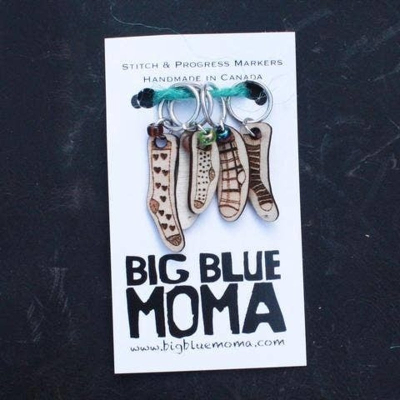 Big Blue Moma Socks Markers