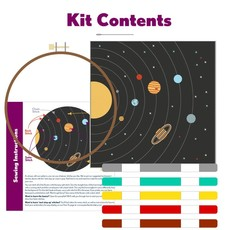 Pop Lush Embroidery Solar System Embroidery Kit