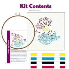 Pop Lush Embroidery Mermaid Embroidery Kit
