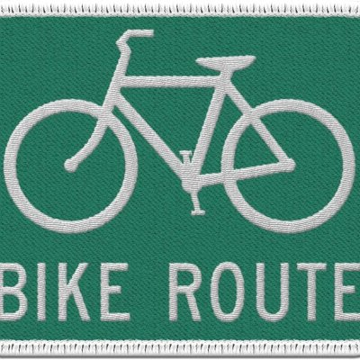 Patches and Pins Bike Route Patch
