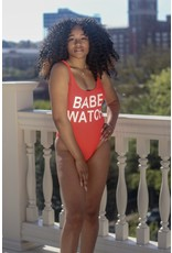 BABE WATCH HIGH THIGH ONE PIECE SWIMSUIT