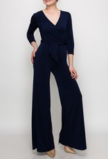 BRIDGE BRIDGE VENECHIA WRAP JUMPSUIT-NAVY