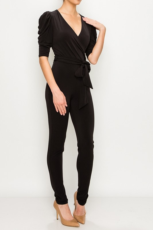 BRIDGE BRIDGE SKINNY LEG JUMPSUIT-BLACK