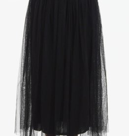 BRIDGE MAXI TULLE SKIRT-BLACK