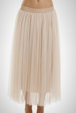 BRIDGE MAXI TULLE SKIRT-IVORY