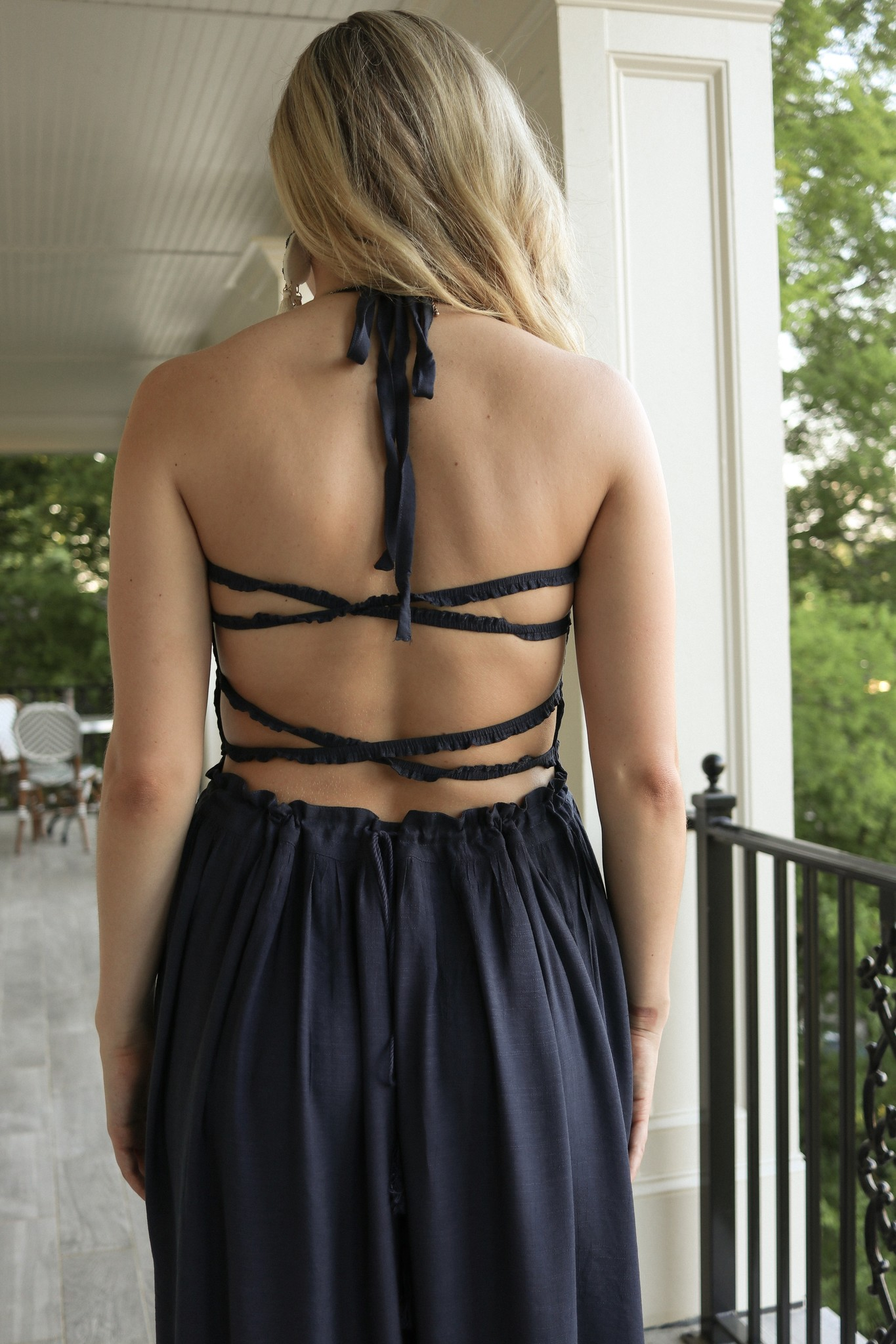BRIDGE WATCH MY BACK MAXI DRESS-NAVY