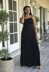 Bridge Open Back Maxi Cami Dress Black