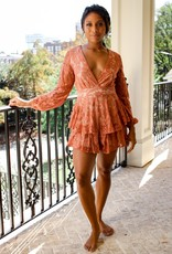 Bridge Lace v-neck romper T0374D33