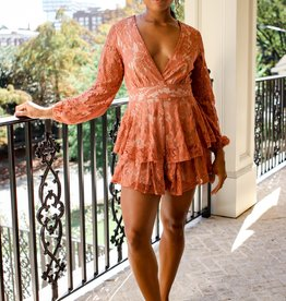 Bridge Lace V-Neck Romper