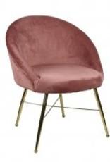 Bridge Home Chantilly Side Chair-Blush