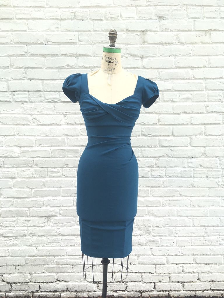 BILLION DOLLAR BABY FITTED DRESS- PEACOCK