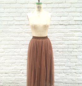 BRIDGE MAXI TULLE SKIRT-PINK
