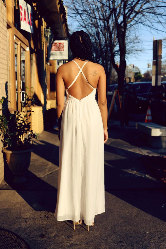 Embroidered Ivory Maxi Dress