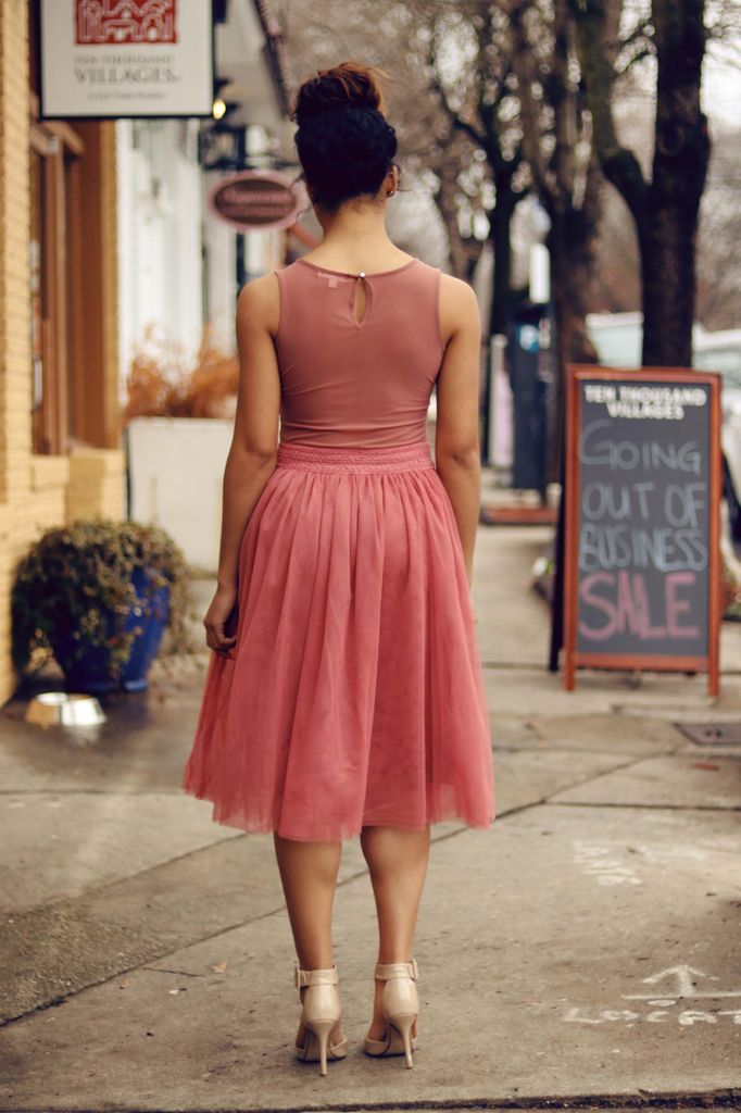 BRIDGE MIDI TULLE SKIRT