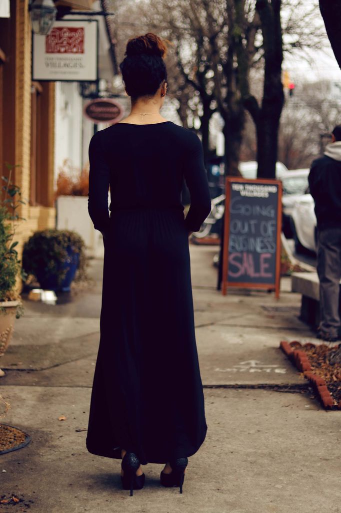 Raven 3/4 Sleeve Empire Maxi