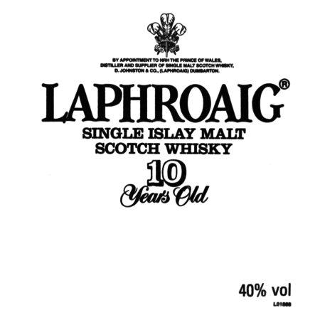 Laphroaig Islay Single Malt Scotch Whisky 10y old