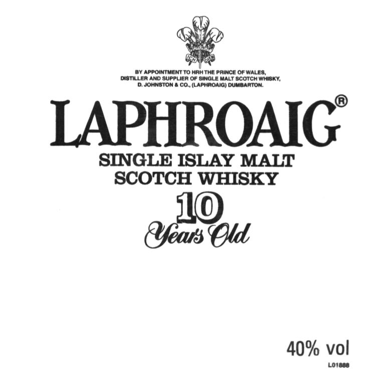 Laphroaig Islay Single Malt Scotch Whisky 10y old