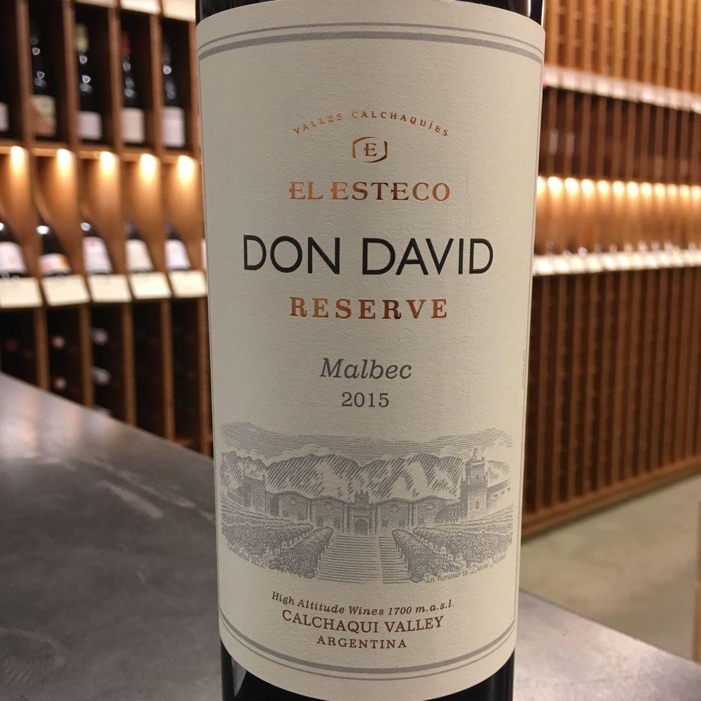 Bodega El Esteco Don David Reserve Malbec 2017