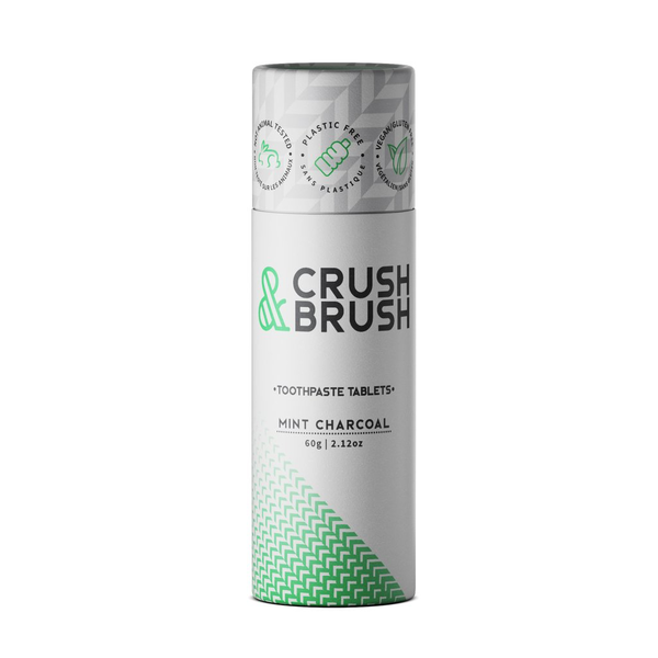 Nelson Naturals Nelson Crush & Brush Toothpaste Tablets - Activated Charcoal and Mint - 60 g