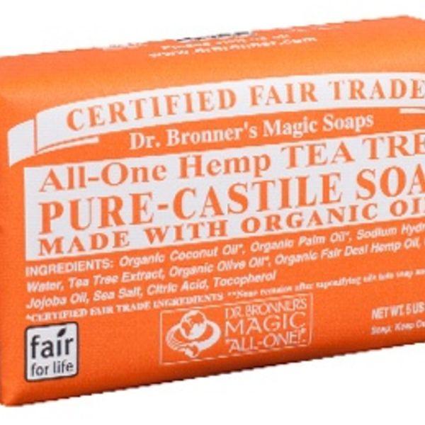 Dr. Bronner's Dr Bronner's Tea Tree Castile Bar Soap 140g