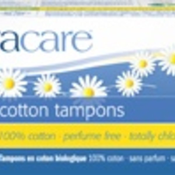 Natracare Organic Regular Tampons with applicator 16 ct