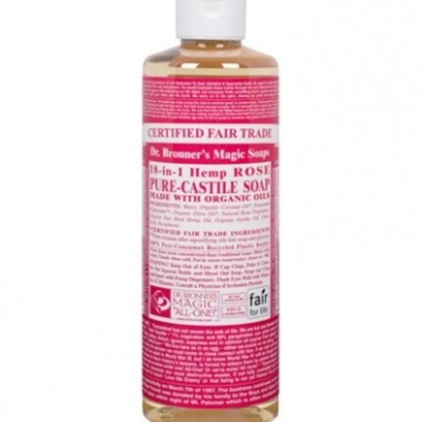 Dr. Bronner's Dr Bronner's Rose Oil Castile Soap Liquid 16oz