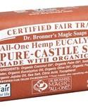 Dr. Bronner's Dr Bronner's Eucalyptus Oil Castile Bar Soap 140g