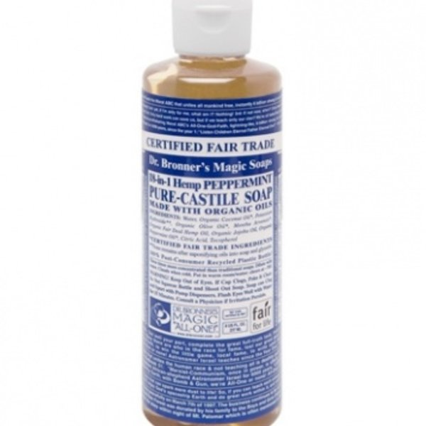 Dr. Bronner's Dr Bronner's Peppermint Oil Castile Soap Liquid 8oz