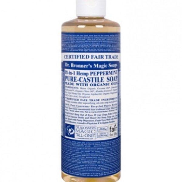 Dr. Bronner's Dr Bronner's Peppermint Oil Castile Soap Liquid 16oz