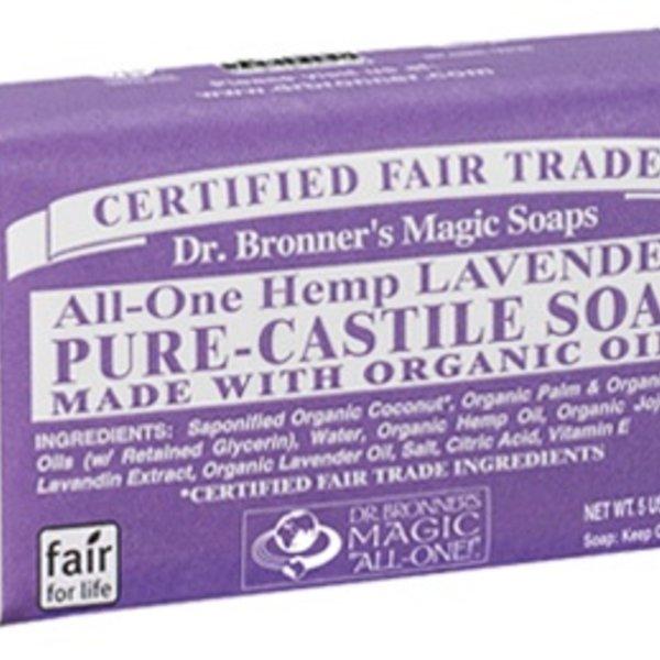 Dr. Bronner's Dr Bronner's Lavender Oil Castile Bar Soap 140g