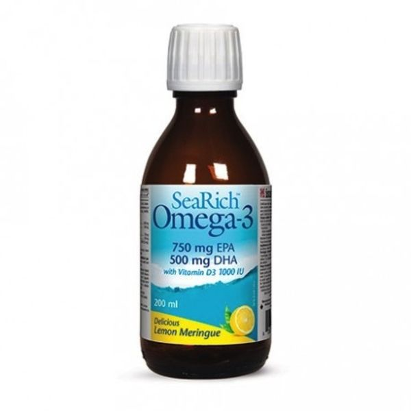 Natural Factors SeaRich Omega 3 Lemon Meringue 200ml