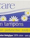 Natracare Organic Regular Tampons without applicator 20 ct