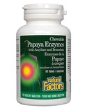 Natural Factors Natural Factors Papaya Enzymes with Amylase and Bromelain 60 chewable